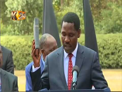 Peter Munya takes the Oath of office as Cabinet secretary
