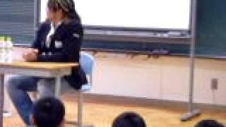 小学校で講演(棚橋 弘至)594 2010年2月 学校の先生の知り合い...