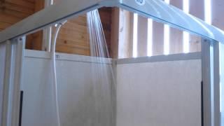 12 V Dusch ute i sommarstugan