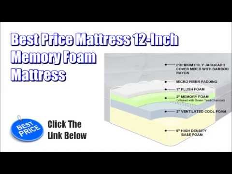 Best Price Mattress Best Price Mattress 12 Inch Memory Foam Mattress Youtube