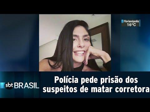Polícia pede prisão dos suspeitos de matar corretora de imóveis no Rio   SBT Brasil (16/08/18)