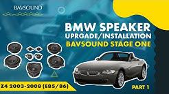 BAVSOUND - 1/2: BMW Z4 '03-'08 (E85/86) - BAVSOUND Stage One Speaker Upgrade Install