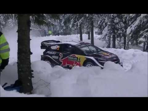 WRC Sweden 2018 Day Three SS11 SS14 Action & Small crash & Mistakes