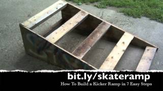 How To Build A Kicker Ramp For Skateboarders In 7 Easy Steps