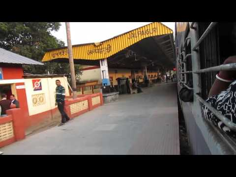 55751 New Jalpaiguri-Haldibari passenger departing from Jalpaiguri railway station!
