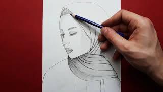 Kapalı Güzel Kız Nasıl Çizilir / Çizime Yeni Başlayanlar İçin Kolay Çizimler