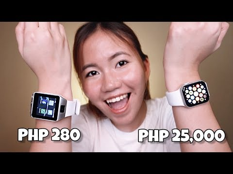 280 PESOS SMART WATCH UNBOXING (APPLE WATCH DUPE!?)