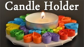 How to make a Paper Quilling Candle Holder - Birthday Gift Ideas - DIY Crafts - Giulia's Art