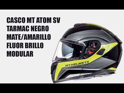 5088b6a3 Casco MT ATOM SV TARMAC modular - YouTube