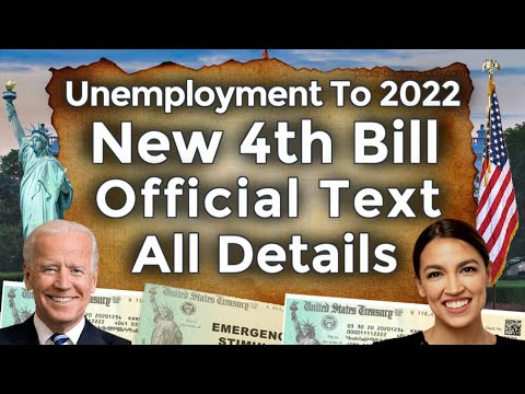 Now Released!! New 4th Unemployment Benefits Extension To Early 2022 AOC Bill PUA PEUC EDD UPDATE