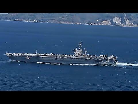 IKE Transits Strait Of Gibraltar • U.S. Carrier Enters MED