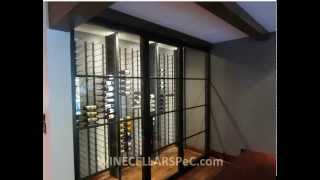 Contemporary Wine Cellars Designs Texas White Rock Lake Project