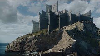ИГРА ПРЕСТОЛОВ 7 СЕЗОН 3 СЕРИЯ - Прибытие Джона Сноу на Драконий камень + начальная заставка