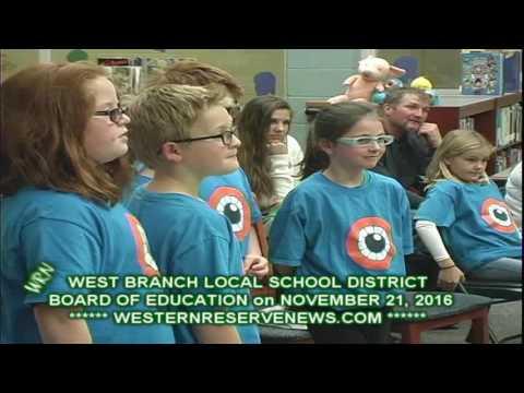 WEST BRANCH SCHOOLS 11-21-16 Classroom Robotics