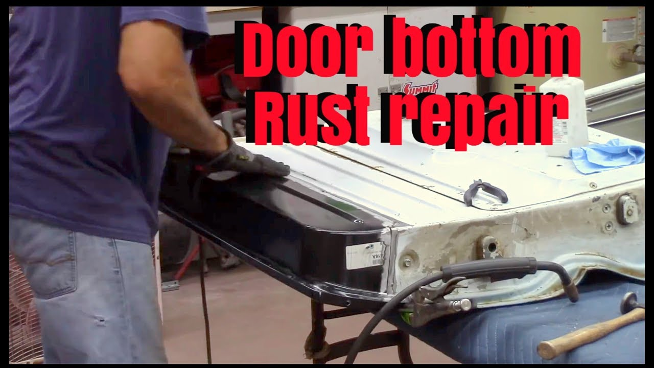 Inner Door Bottom Rust Repair Chevy C10 Youtube