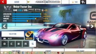 How to hack Weber Faster One + Pro upgrade in Asphalt 8 for PC window 8/10