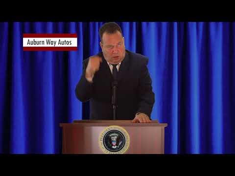 Auburn Way Autos >> Auburn Way Autos Funny Car Commercial Presidents Youtube