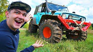 Купили на аукционе автомобиль за 300 тысяч рублей, а это оказался огромный внедорожник монстр-трак!