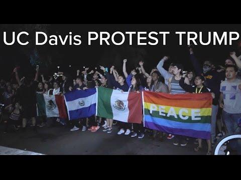 UC Davis Protest Trump 2016