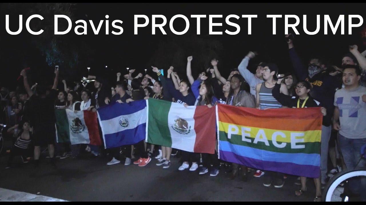 UC Davis Protest Trump 2016 - YouTube