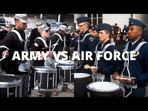 AIR FORCE VS ARMY DRUMLINE BATTLE