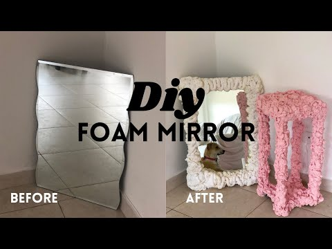 DIY FOAM CLOUD MIRROR (designer dupe) 🌥 - YouTube