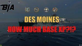 World of Warships- Des Moines is Unstopable (264k DMG | 4.1k Base XP)