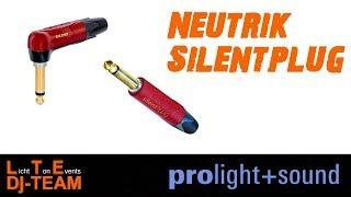 Praktischer Klinkenstecker von Neutrik | Neutrik silentPLUG