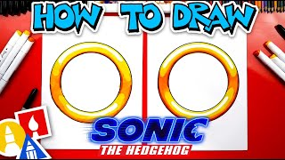 How To Draw A Ring From Sonic The Hedgehog - #stayhome and draw #withme