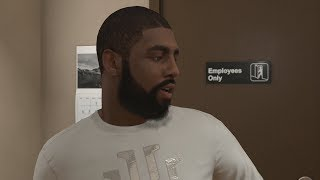 NBA 2K18 My Career - Kyrie Irving at the Barbershop! PS4 Pro 4K Gameplay thumbnail