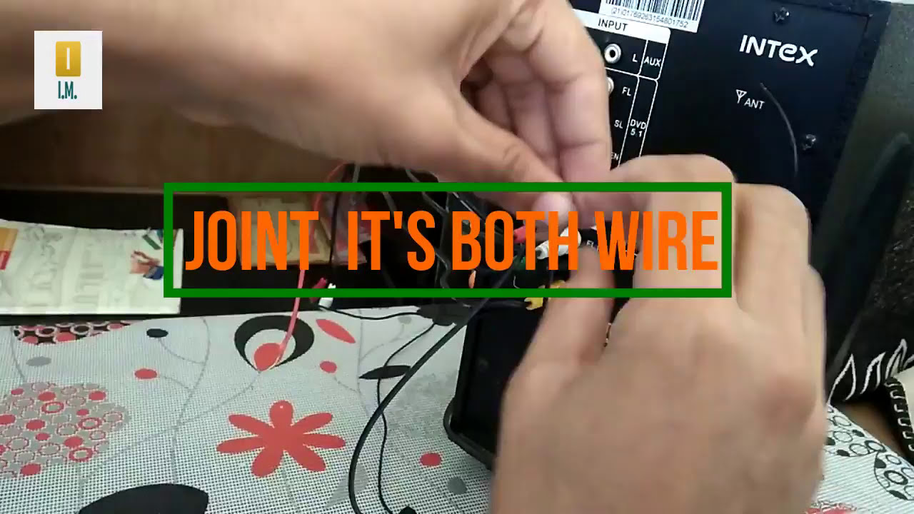 small resolution of connect aux dvd usb at a time 5 1 intex home theater to led tv