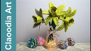 Zonkile I Narcyzy Z Papierowej Wikliny Daffodils And Narcissi Paper Wicker Youtube