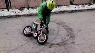 Extreme Kids electric bike - modified strider Giant kids bike
