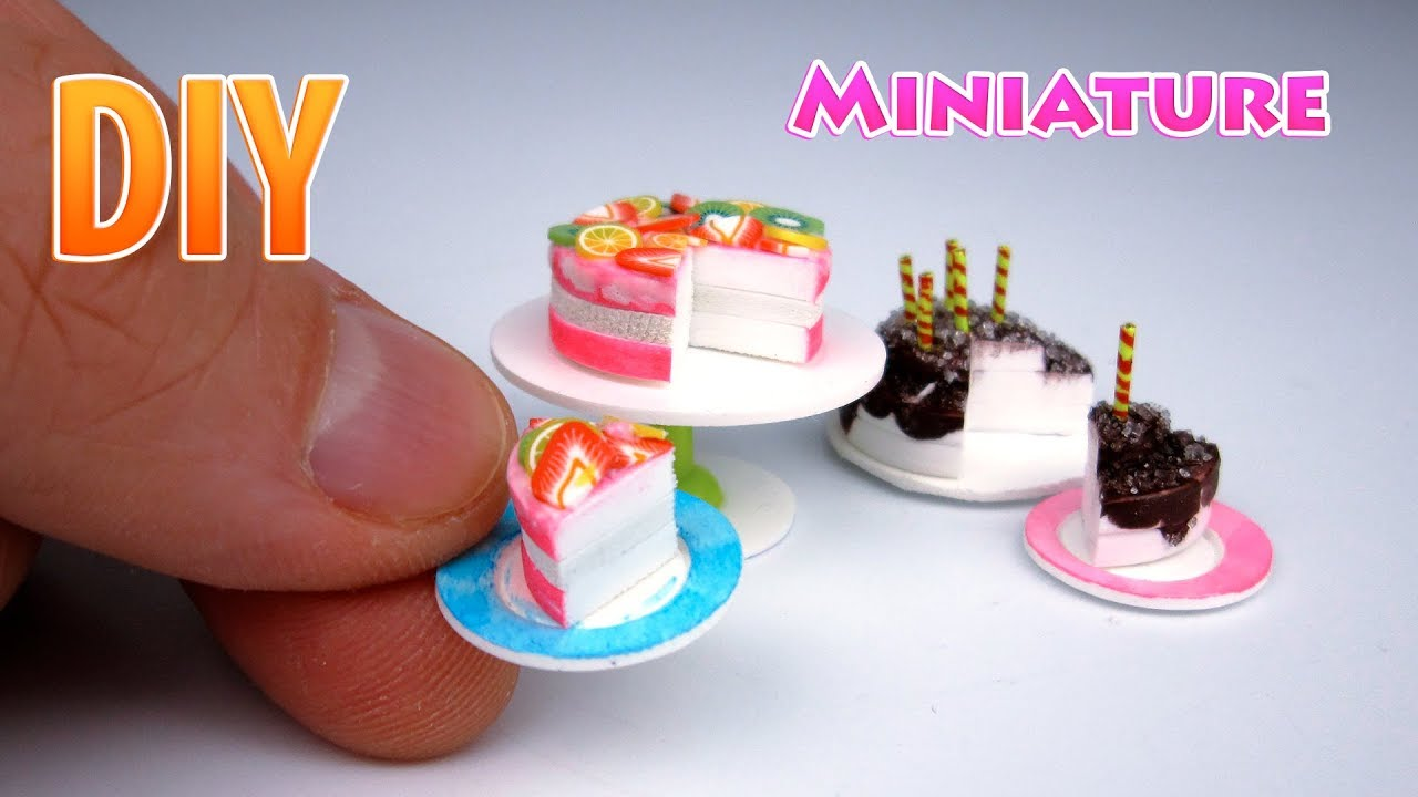 Diy How To Make A Mini Chocolate Birthday Cake For Barbie Miniatures