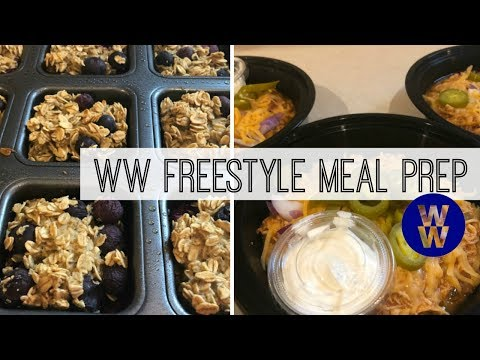 ww-meal-prep-|-chicken-enchilada-bowls-&-blueberry-protein-oatmeal-muffins