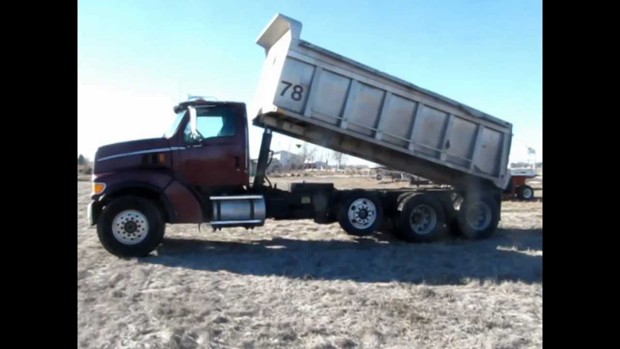 Tri Axle Truck For Sale >> 1998 Ford LT9511 tri axle dump truck for sale   sold at auction February 14, 2013 - YouTube
