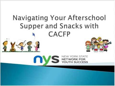 Navigating Your Afterschool Supper and Snack with CACFP