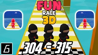 Fun Race 3D - Gameplay - Levels 304 - 315 + Bonus Levels (iOS - Android)