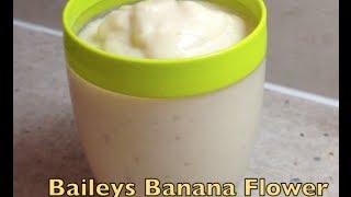Baileys Banana Flower Cocktail Cheekyricho