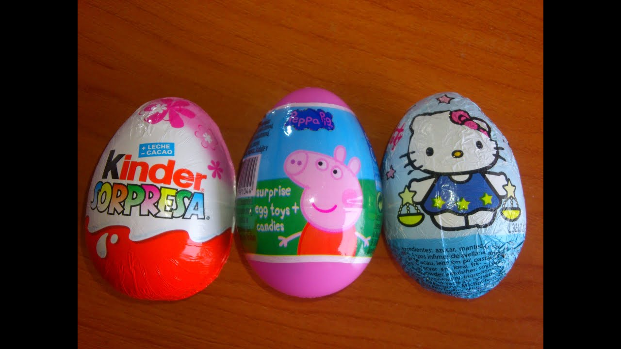 HUEVOS SORPRESAPRINCESAS DISNEYHELLO KITTY Y PEPPA PIGSUSPRISE