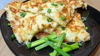 Сырный блин (сырный омлет) на завтрак | Рецепт сырного омлета | Рецепт на завтрак