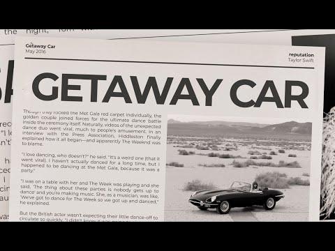 Taylor Swift - Getaway Car (Lyric Video)