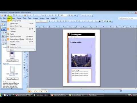 MS Publisher Tip How to create a booklet and share it as a PDF .mp4