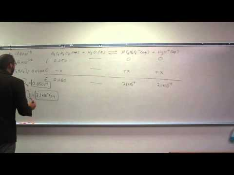 Calculating Equilibrium Concentrations For a Polyprotic Acid 001