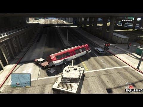 GTA 5 100 TonsTank Rampage #7 HD Grand Theft Auto 5