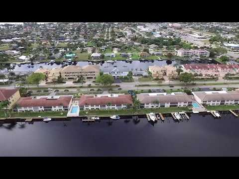 Drone over cape coral amazing view