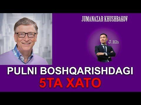 Pulni Boshqarishdagi 5 ta XATO!