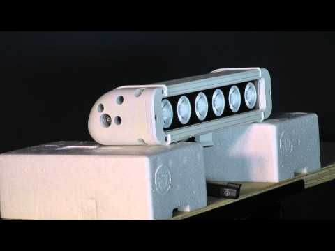 LEDP10w-60e  LED Light Emitter - 6, 10-W LEDs - 5160 Lumen - 475'L X 80' Spot Beam - Ext Environment
