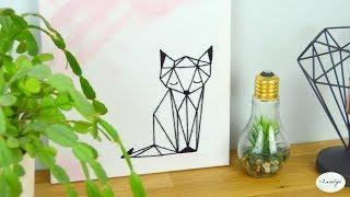 DIY | Tableau Renard ORIGAMI 🦊