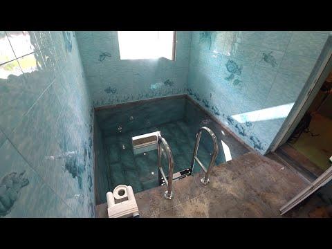 Купель с подогревом в загородном доме. Строительство купели своими руками.  Маленький бассейн